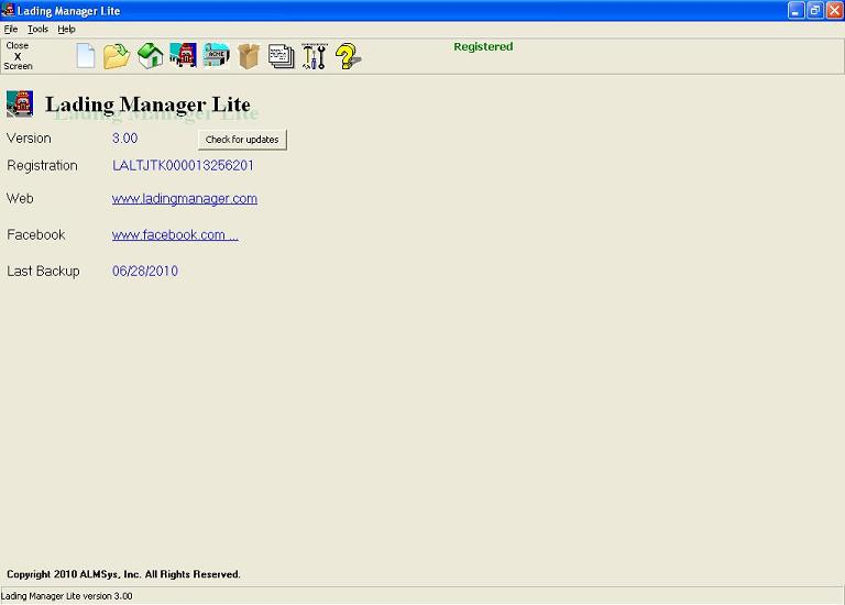 Click to view Lading Manager Lite 5.3000 screenshot