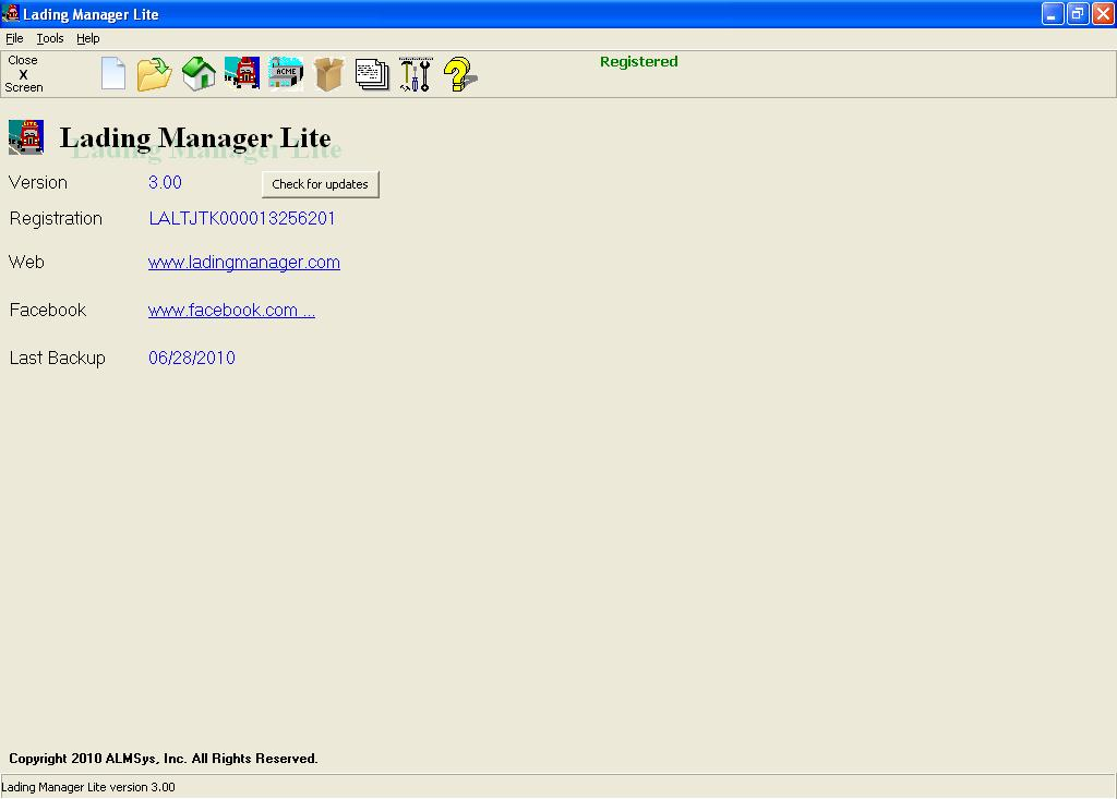 Lading Manager Lite screenshot